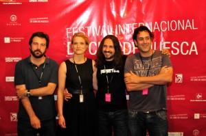Ganadores presentes en la rueda de prensa, Oksman, Fons, Jiménez y Del Campo, de izquierda a derecha. FOTO: Jorge Dueso