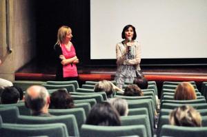Vicki Calavia Y Yolanda Liesa, en la presentación de su corto