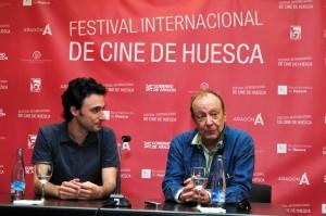 Manuel Asín, editor de El Intermedio, que publicará la integral de Arrietta con el apoyo del festival, junto a Adolpho Arrietta
