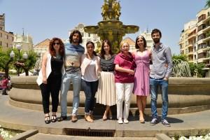 El equipo de La Novia tras la presentación del rodaje en Huesca (Jorge Dueso)