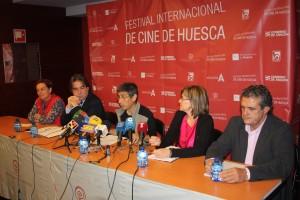 Teruca Moreno, Humberto Vadillo, Jesús Bosque, Elisa Sanjuán y Manolo Pérez durante la presentación de la 42 edición