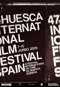 Cartel oficial de la 47 edición del Festival Internacional de Cine de Huesca, realizado por la diseñadora Ana Criado